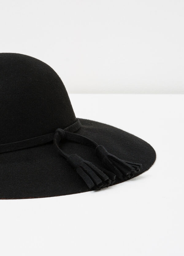 Felt hat with wide brim | OVS