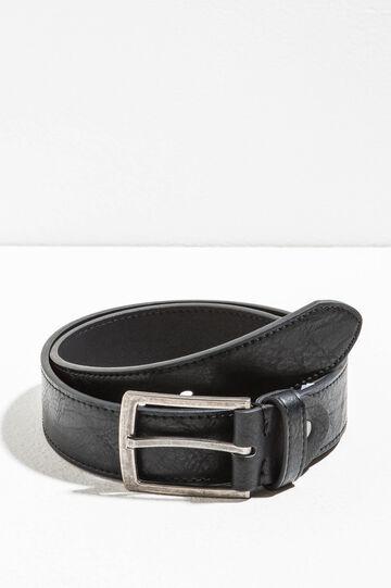 Hammered-effect belt