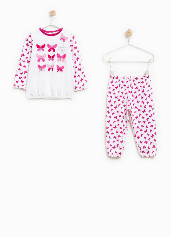Pijama en algodón 100% con mariposas | OVS