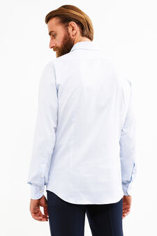 Formal shirt with bluff collar, Soft Blue, hi-res