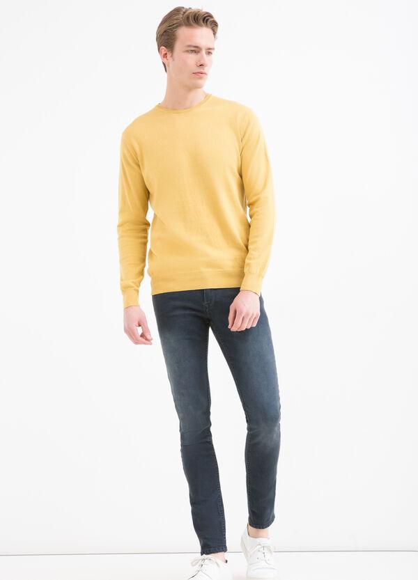 Solid colour 100% cotton pullover | OVS