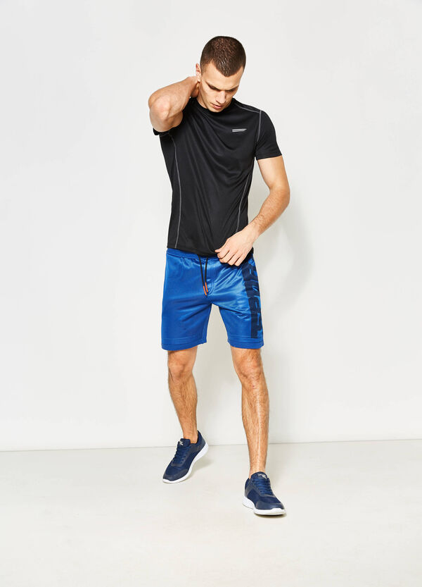 Bermuda shorts with openwork insert | OVS