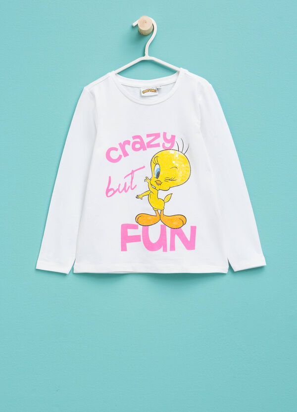 T-shirt with Tweetie Pie print and long sleeves | OVS