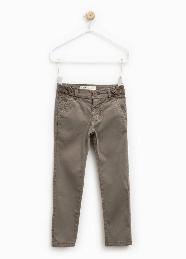Pantaloni chino slim fit in cotone stretch   OVS