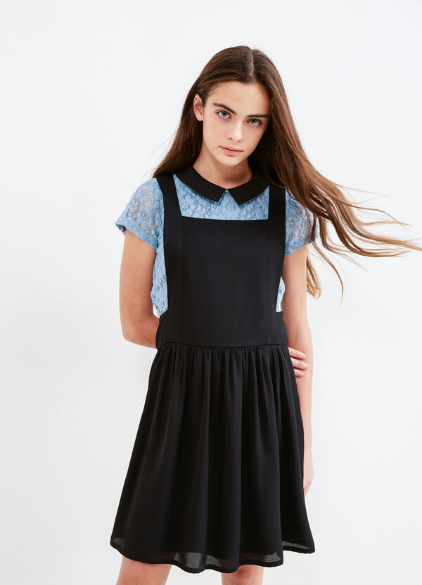 Teen pinafore dress with braces | OVS
