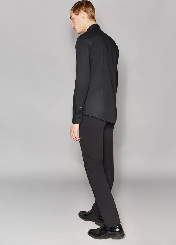 Camisa formal slim fit en algodón elástico | OVS