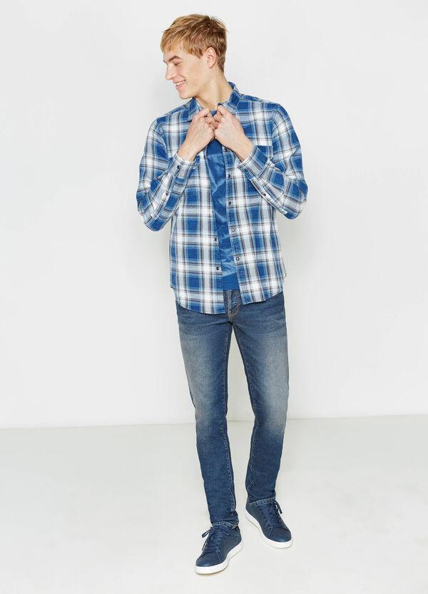 Casual tartan shirt in 100% cotton | OVS