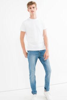 Jeans stretch con effetto used, Lavaggio medio, hi-res