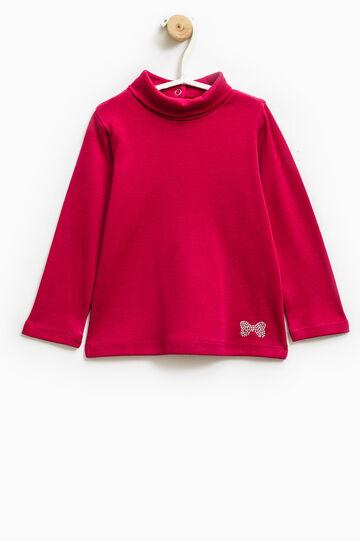Diamanté T-shirt in 100% cotton, Cherry Red, hi-res