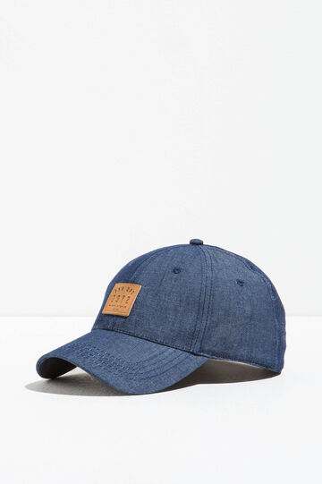 Cappello da baseball di jeans con patch