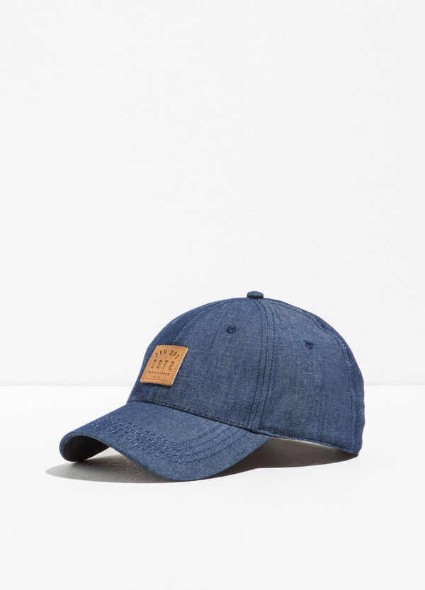 Cappello da baseball di jeans con patch | OVS