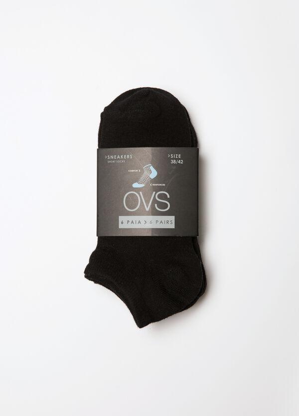 Six-pack plain socks | OVS
