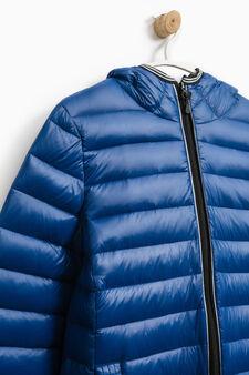 Solid colour real down jacket, Royal Blue, hi-res