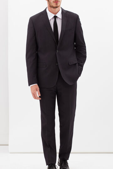 Solid colour elegant suit with regular fit, Grey, hi-res