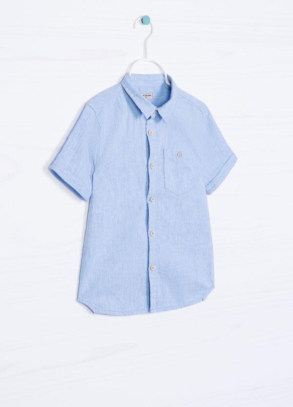 Camicia lino e cotone con taschino | OVS