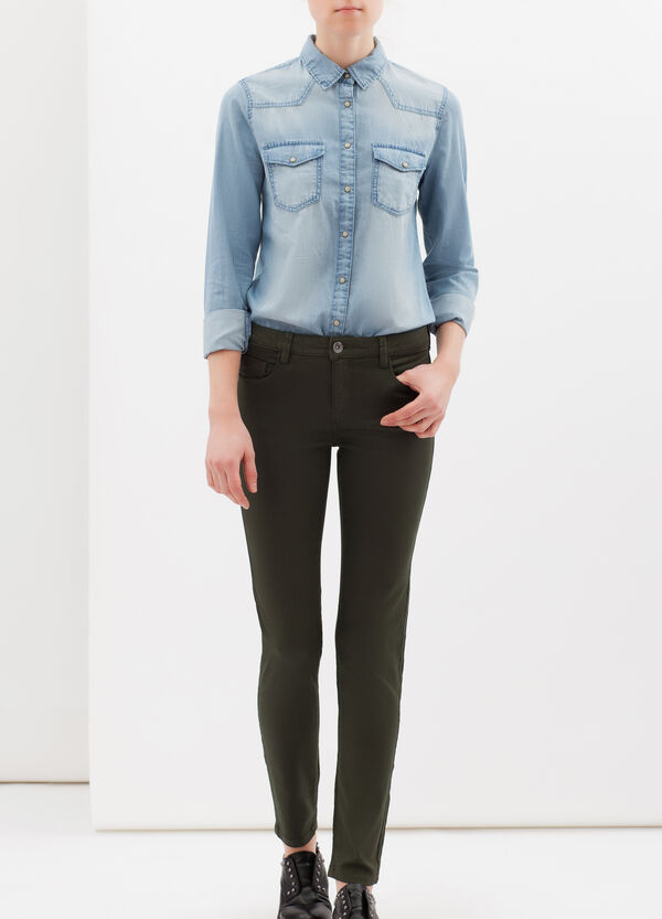 Plain stretch trousers | OVS