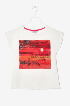 T-shirt con stampa, Bianco latte, hi-res