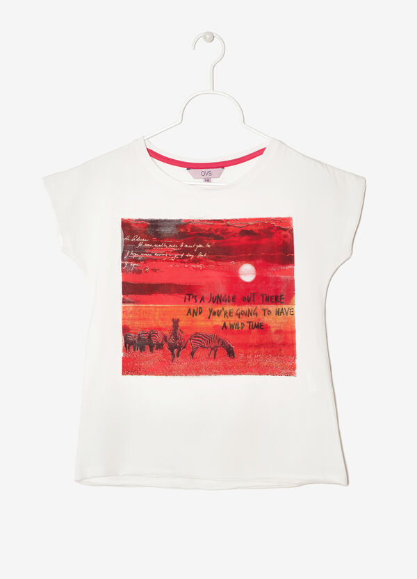 T-shirt con stampa | OVS