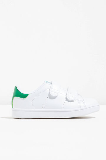 Sneakers with contrasting back and Velcro fastening