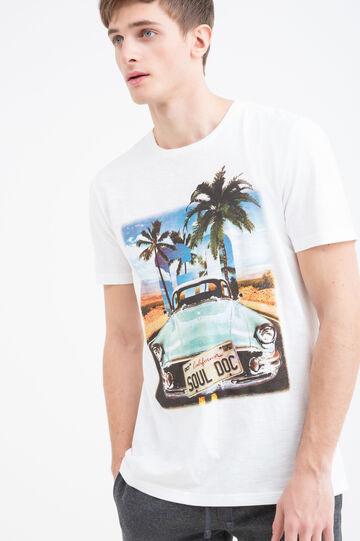 T-shirt in puro cotone maxi stampa