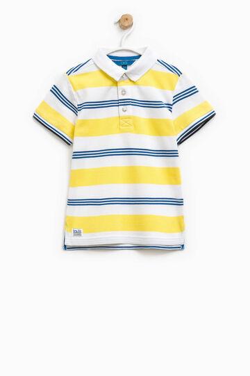 100% cotton striped polo shirt