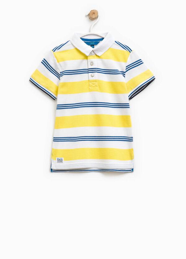 100% cotton striped polo shirt | OVS
