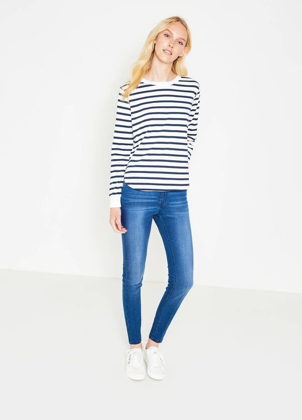 High-waist, super skinny-fit stretch jeans | OVS