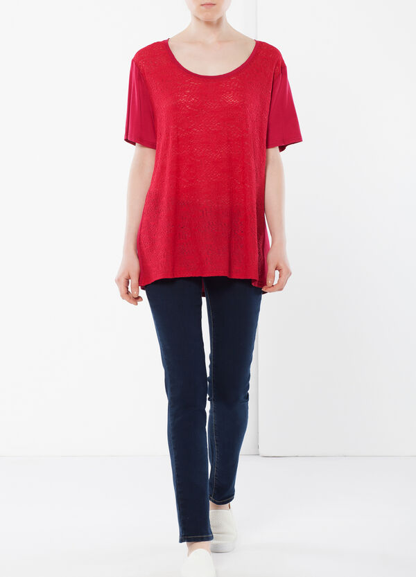 T-shirt with openwork front | OVS