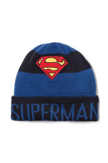 Superman beanie cap, Navy Blue, hi-res
