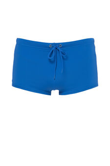 Solid colour stretch boxer shorts with lining, Cornflower Blue, hi-res