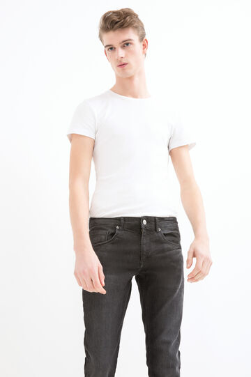 Jeans skinny fit stretch, Nero, hi-res