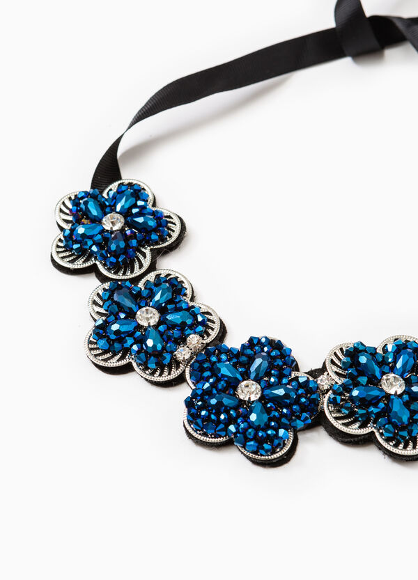 Necklace with flowers and diamantés | OVS
