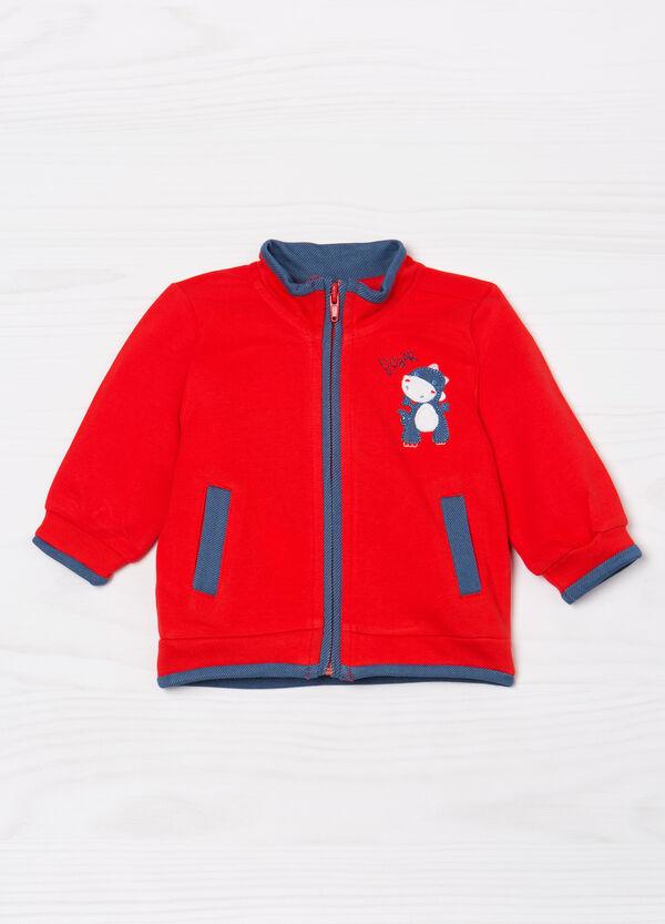 100% cotton cardigan with zip | OVS