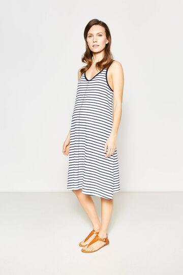 Striped sleeveless MUM dress