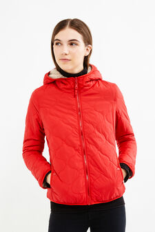Jacket with faux fur lining, Red, hi-res