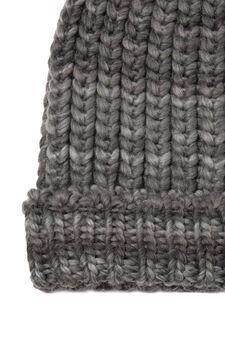 Cappello a cuffia tricot maglia grossa, Grigio melange, hi-res