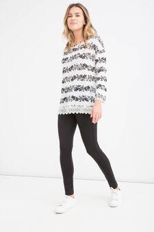 T-shirt stretch floreale Teen, Bianco, hi-res