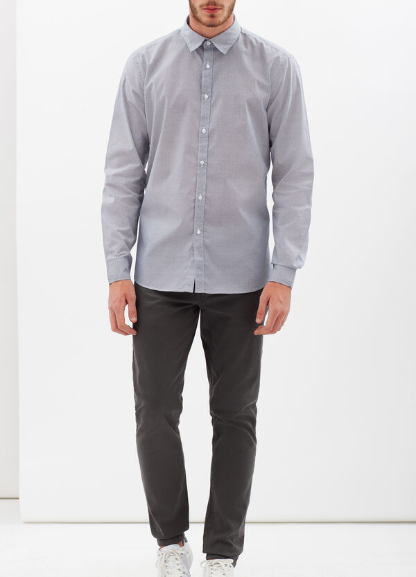 Slim-fit patterned shirt | OVS