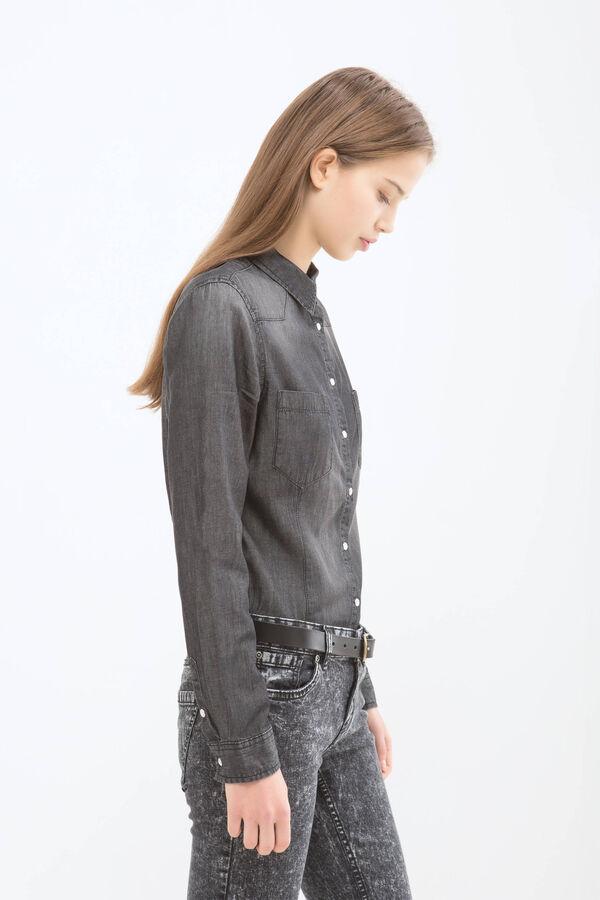 Camicia di jeans effetto delavé | OVS