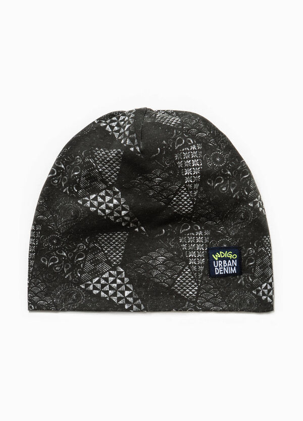 Patterned jersey beanie cap | OVS