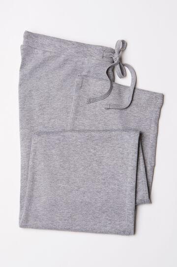 Pyjama trousers in 100% cotton, Grey Marl, hi-res