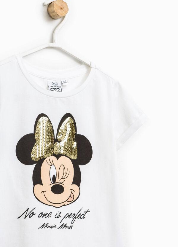 T-shirt con paillettes e frange Minnie | OVS