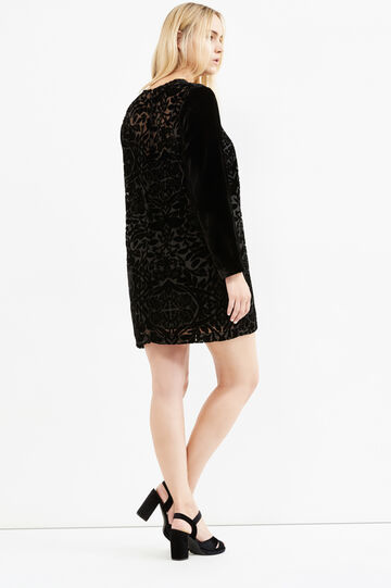Curvy velvet lined dress, Black, hi-res