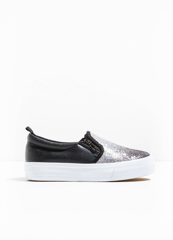 Glitter slip-ons with zip | OVS