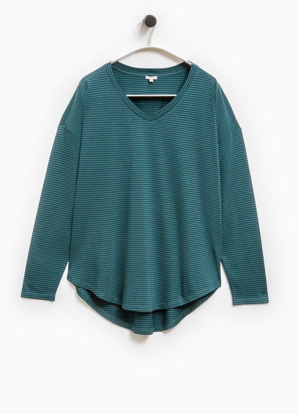 Smart Basic V-neck cotton modal T-shirt | OVS