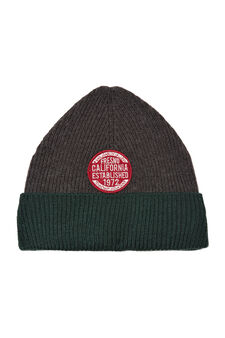 Beanie cap with patches, Slate Grey, hi-res