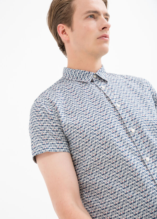 Camicia puro cotone stampata | OVS