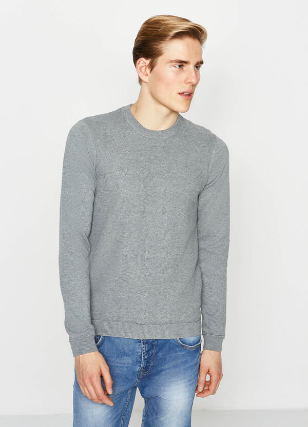 Ribbed knitted pullover | OVS