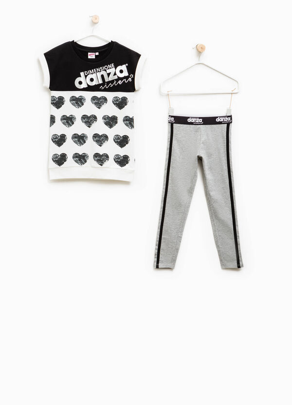 Dimensione Danza outfit with hearts print | OVS