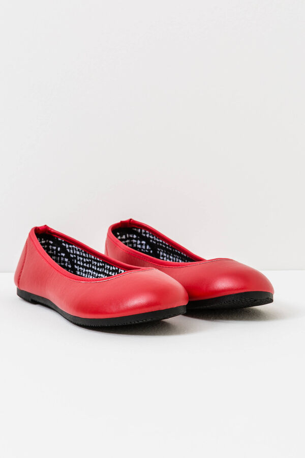 Solid colour ballerina flats with round toe | OVS
